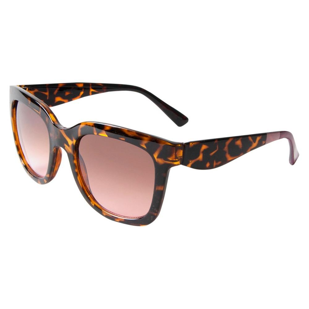 Chunky Surf Sunglasses - Tortoise, Womens, Black Swirl