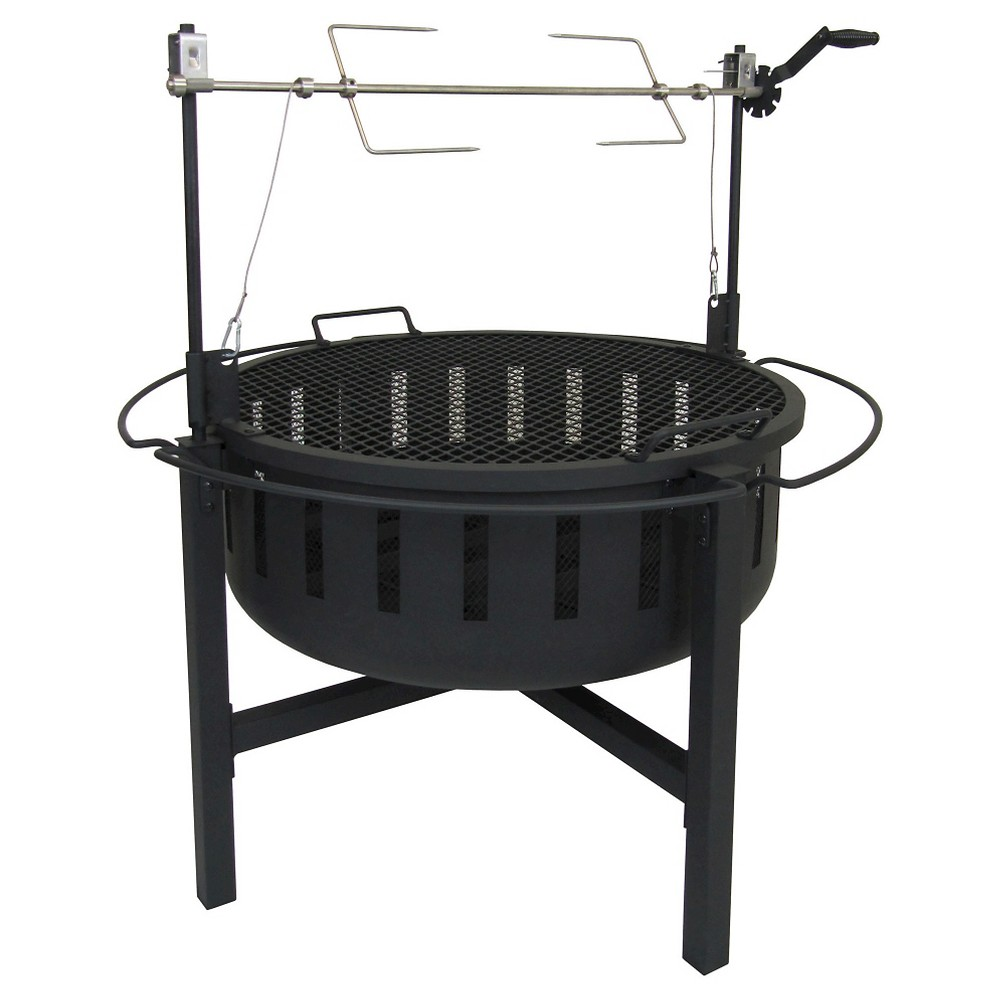 Landmann Fire Rock Grill & Fire Pit Steel - Black