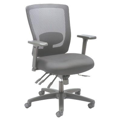 Alera® Alera Envy Series Mesh Mid Back Multifunction Chair, Black