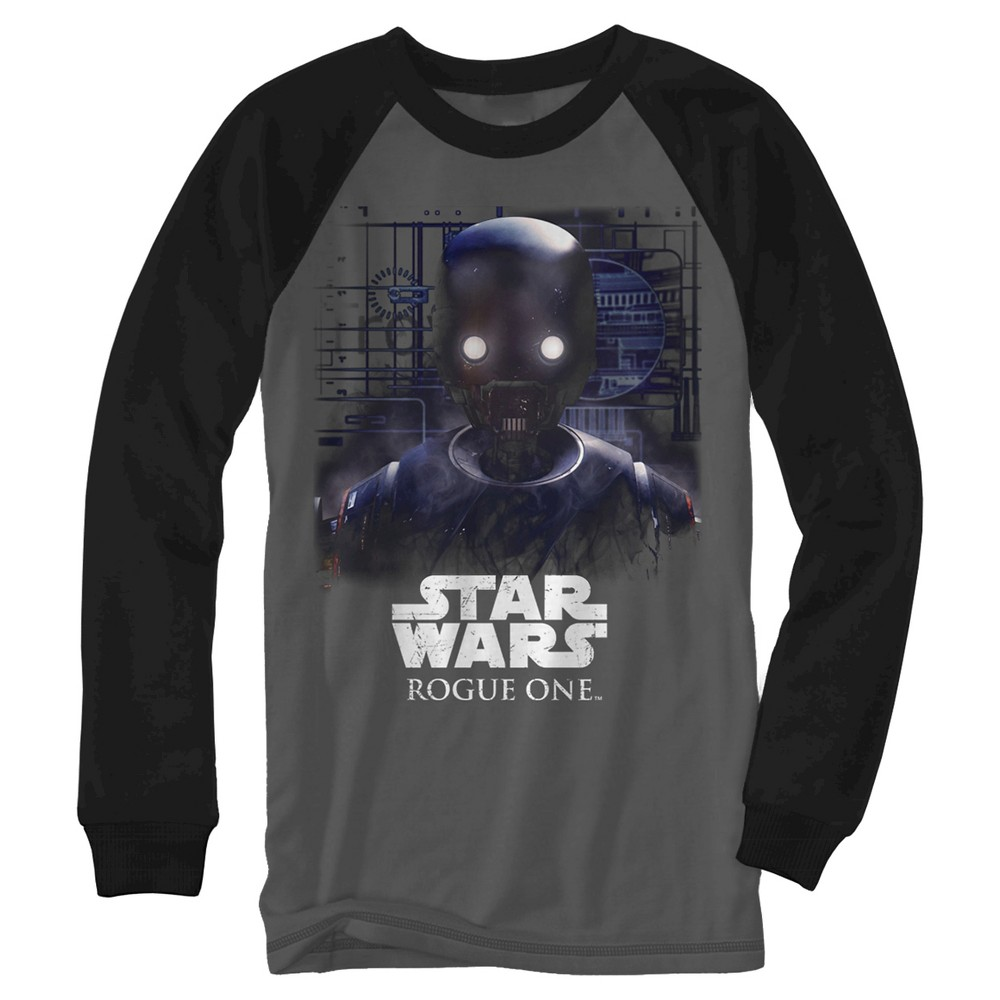 Boys' Star Wars Rouge One Robot - Charcoal/ Black XL, Gray