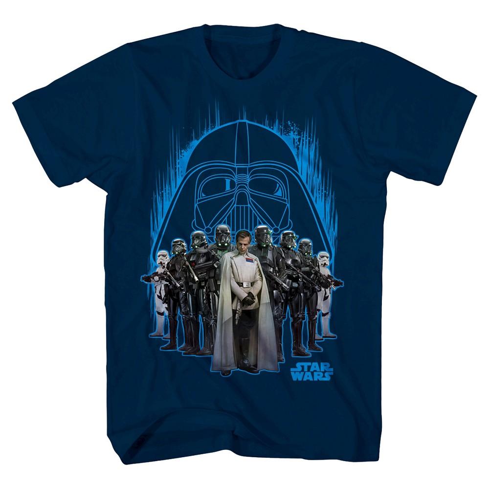 Boys' Star Wars Dark Side Group Shot T-Shirt – Navy XL, Boy's, Size: XS, Blue