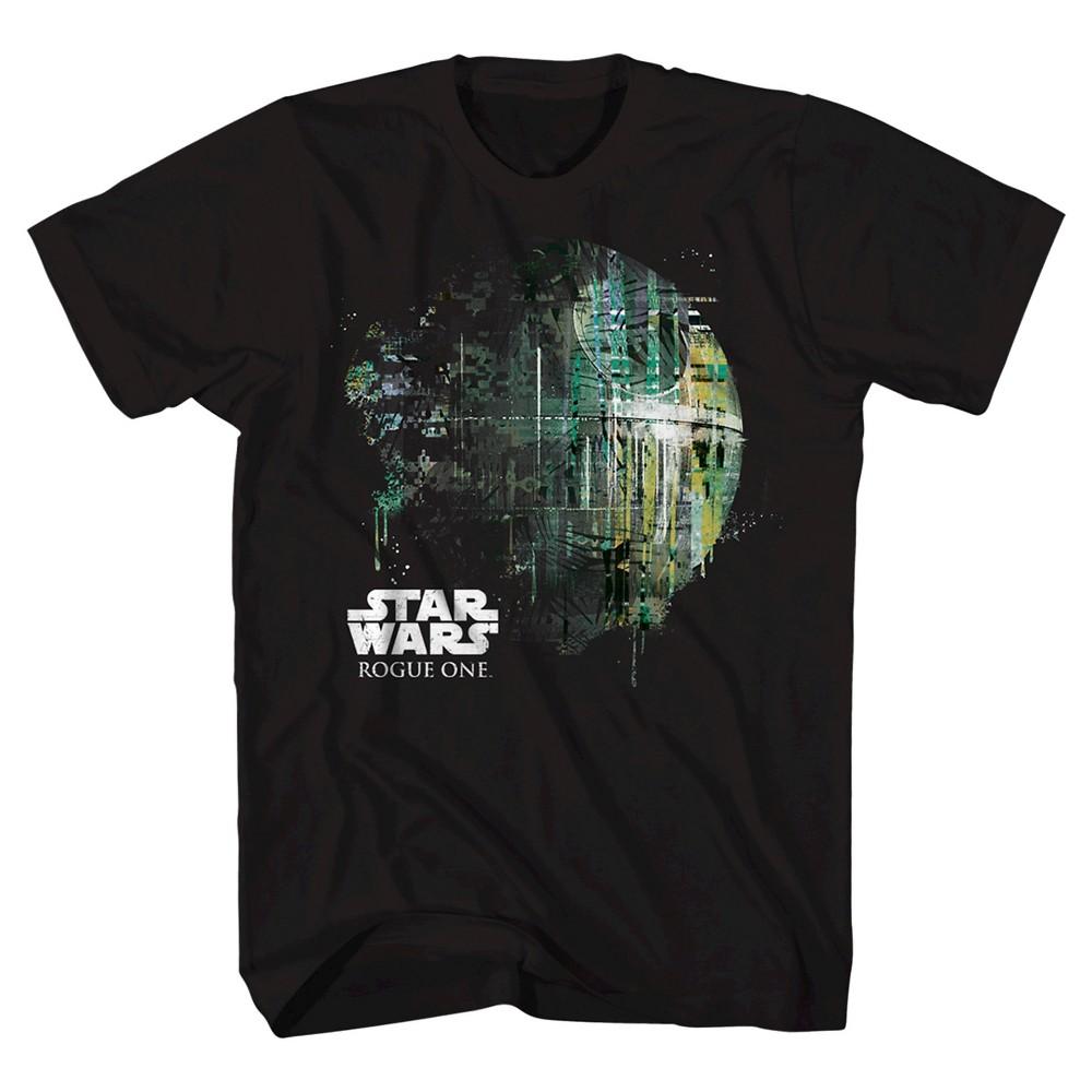Boys Star Wars Rogue One Death Star T-Shirt - Black L