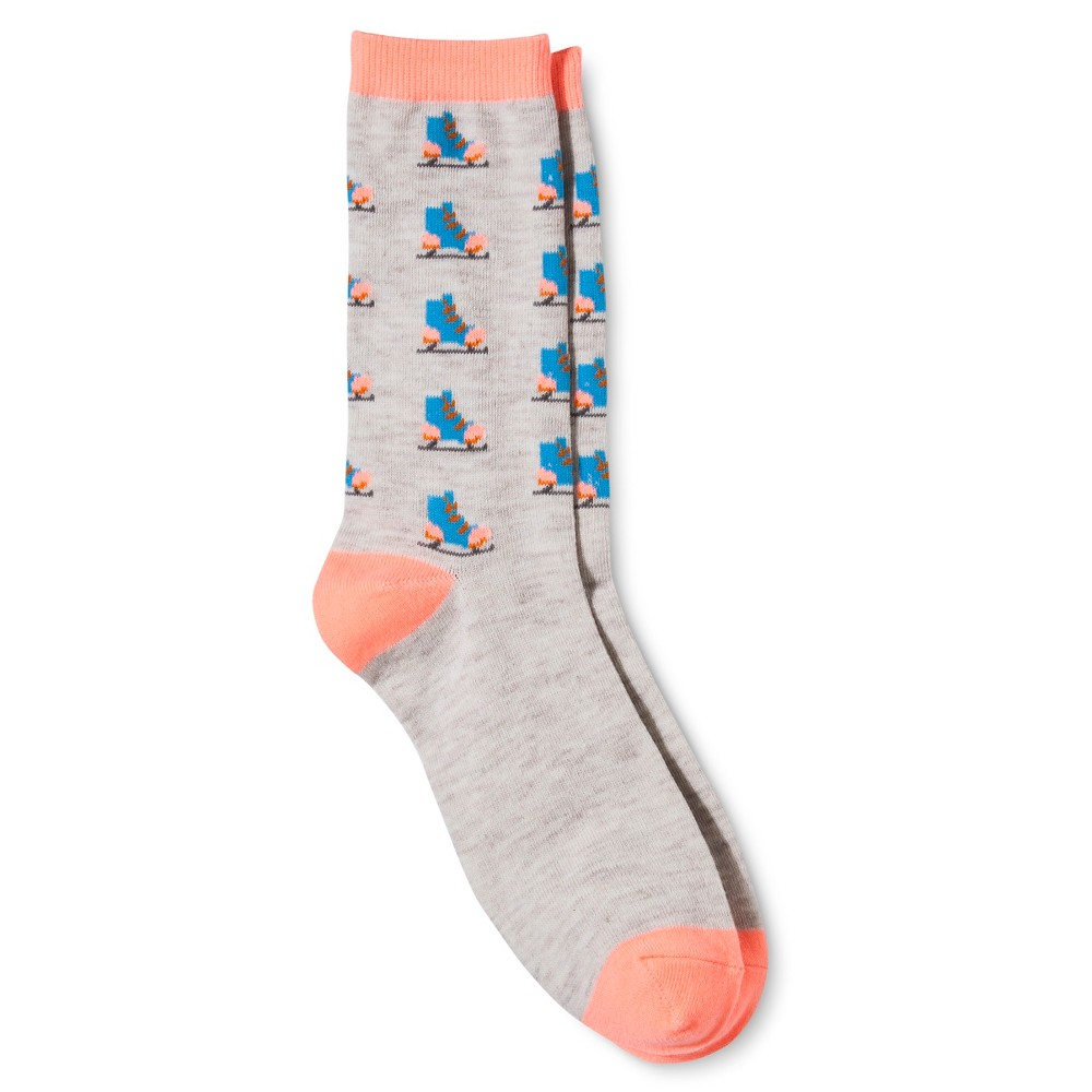 Legale Womens Winter Fun Skate Crew Sock One Size, Multi-Colored