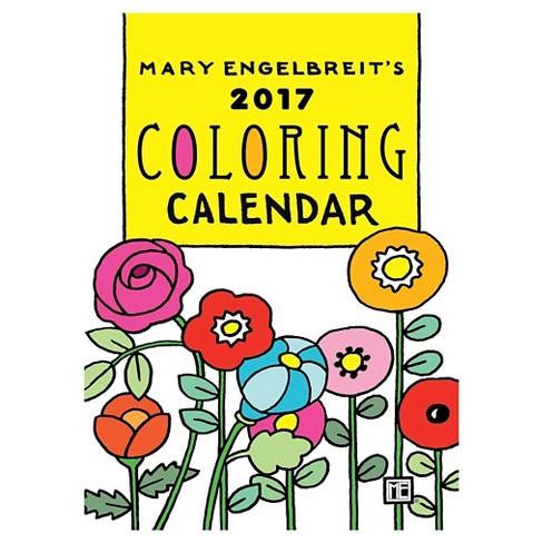 Mary Engelbreit\'s Coloring 2017 Calendar (Paperback) : Target