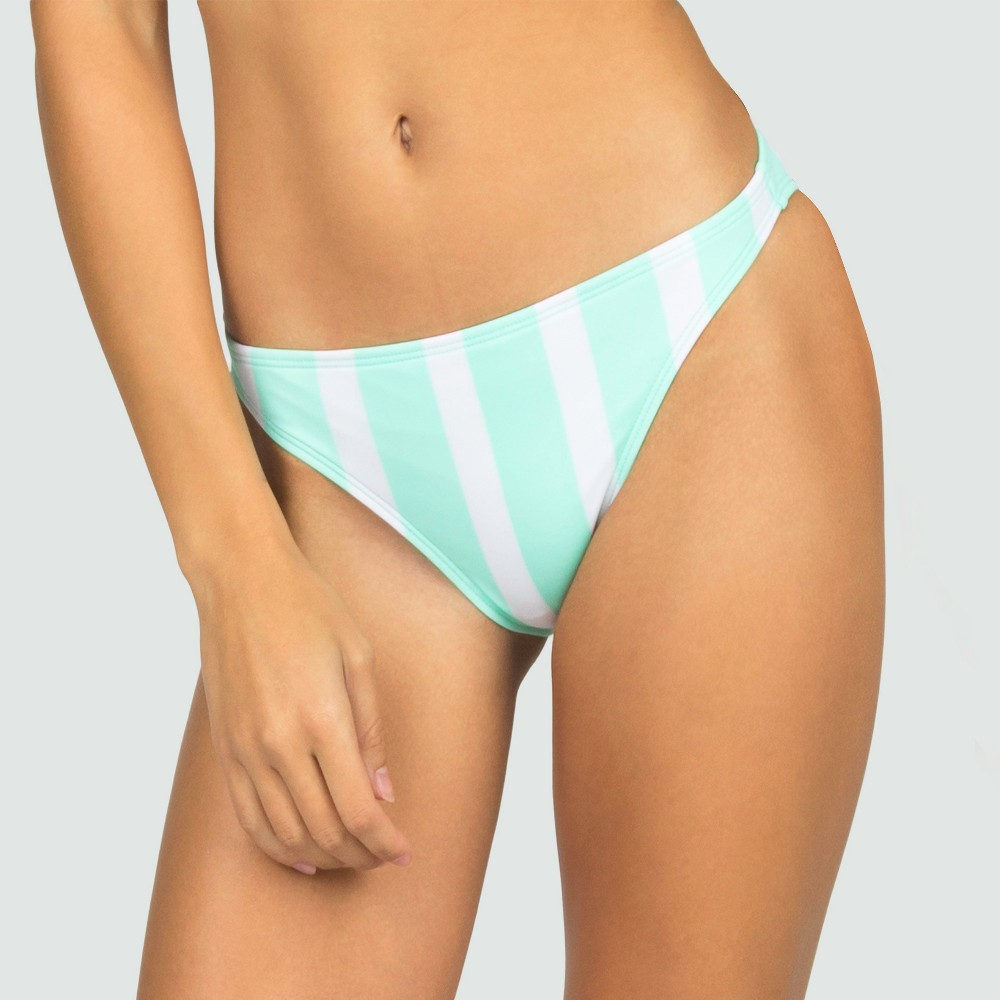 Womens Striped Flamingo Cheeky Bow Bikini Bottom - Mint S - Sugar Coast by Lolli, Blue