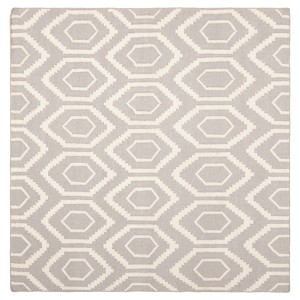 Taza Dhurry Rug - Grey/Ivory - (8