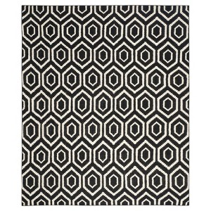 Taza Dhurry Rug - Black/Ivory - (9