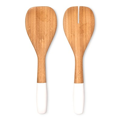Bamboo Salad Servers 2 pc Set White - Modern by Dwell Magazine