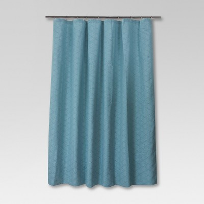 Delightful Stitch Triangle Shower Curtain   Aqua   Threshold™