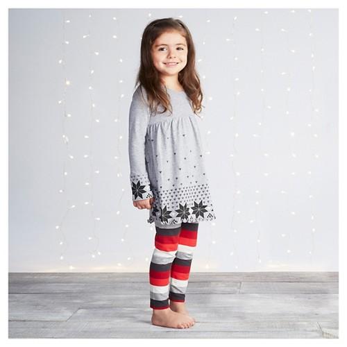 Burt's Bees Baby Toddler Girls' Dress & Legging 6 - Heather Gray, Toddler Girl's