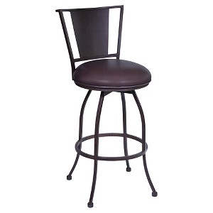 Dynasty 30 Faux Leather Barstool - Brown - Armen Living
