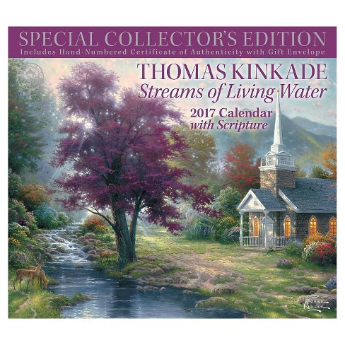 Thomas Kinkade Streams of Living Water 2017 Calendar : With Scripture (Special) (Paperback) - image 1 of 2