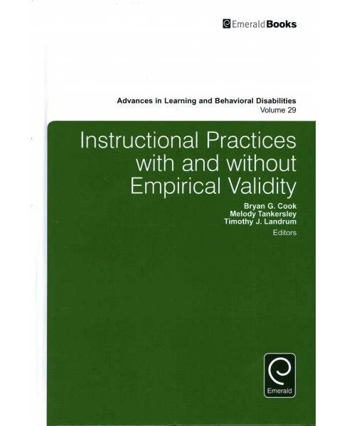 Instructional Practices With and Without Empirical Validity (Hardcover) - image 1 of 1