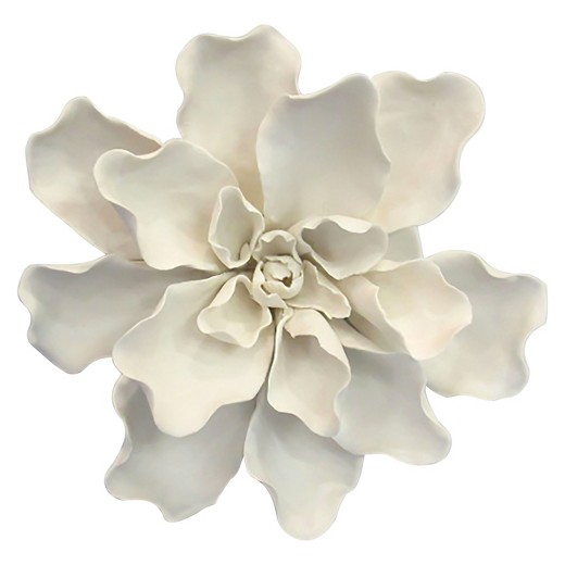 Ceramic Flower Wall Decor Target : Ceramic flower wall d?cor small white threshold target