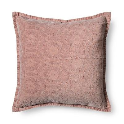 Pink Stonewashed Square Throw Pillow (18 x18 )- Threshold™