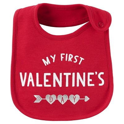 Just One You™ Made by Carter's® Baby My First Valentine's Day Bib - Cayenne