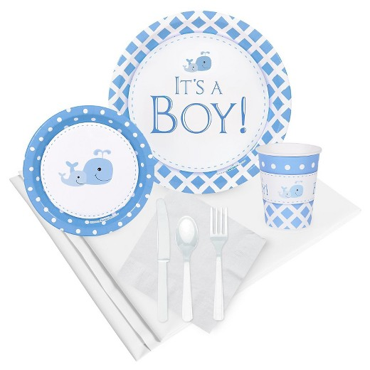 It 39 s a boy party tableware pack target for Baby shower decoration packs