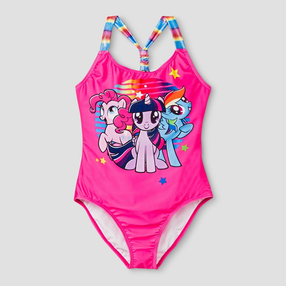 Girls My Little Pony One Piece Swimsuit S - Pink