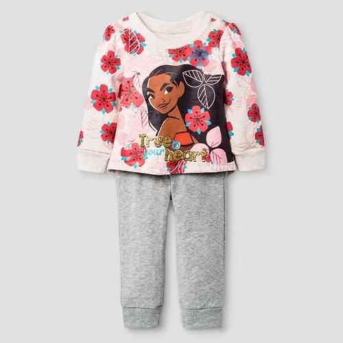 Baby Girls' Moana Top And Bottom Set Disney Light Off White 12M, Infant Girl's, Size: 12 M, Beige