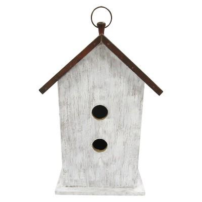 13 H Wood Bird House, - Threshold™
