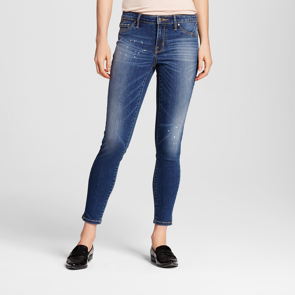 Womens Mid-rise Jegging - Mossimo Dark Wash 8L, Size: 8 Long, Blue