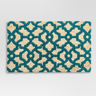 Doormat Lattice - Turquoise - (2'x1'5 )- Threshold™