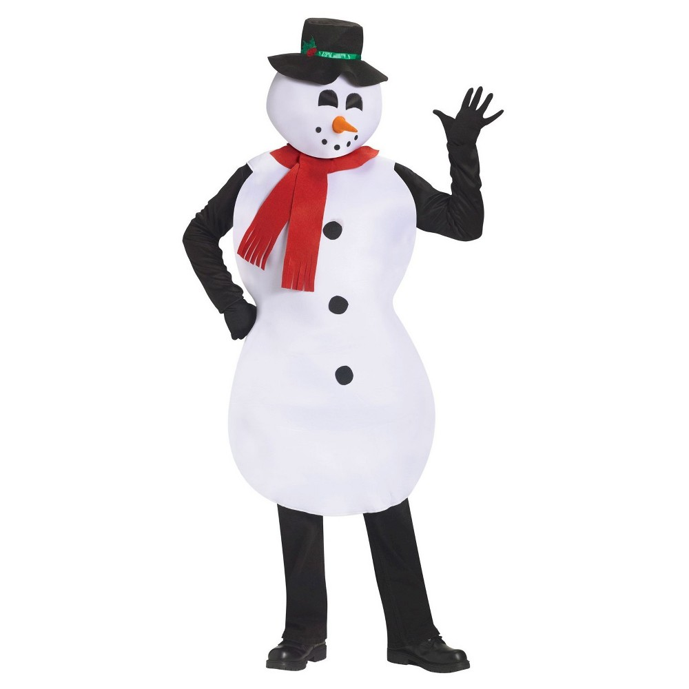 Mens Adult Snowman Tunic Costume, White