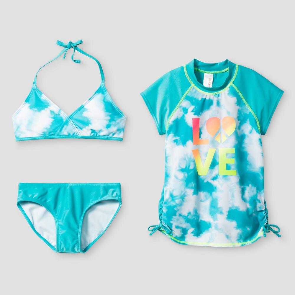 Girls Love Tie Dye Bikini And Rashguard - Cat & Jack Blue L