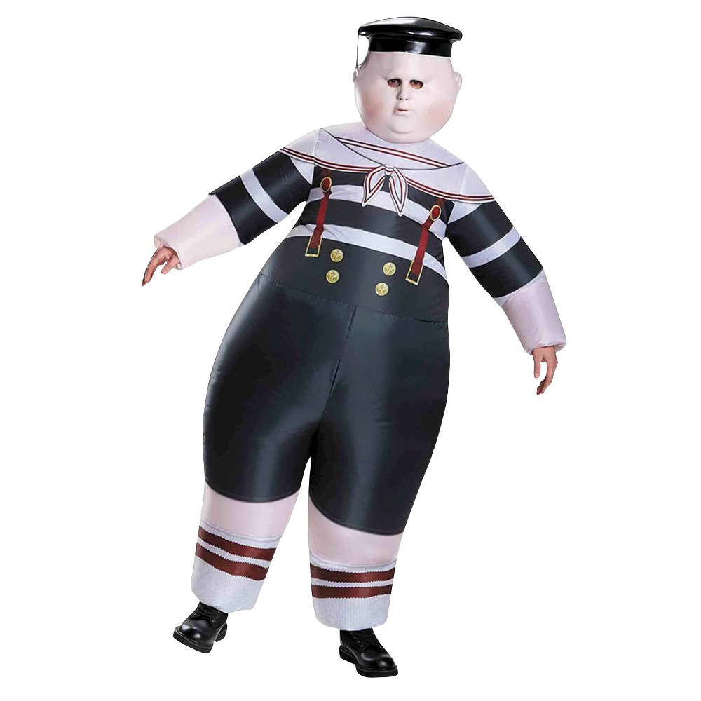 Alice Through the Looking Glass: Inflatable Tweedle Dee/Dum Adult Costume - One Size Fits Most, Mens, Multi-Colored