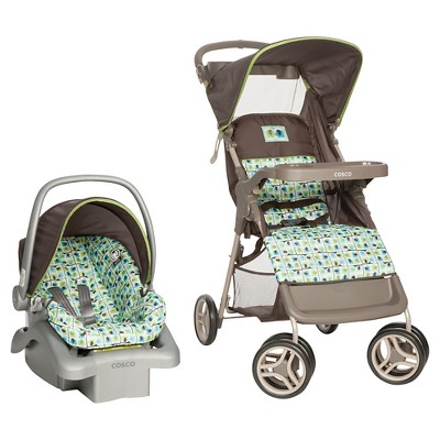 Cosco Lift & Stroll Travel System in Elephant Squares