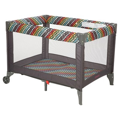 Cosco Funsport Playard in Rainbow Dots