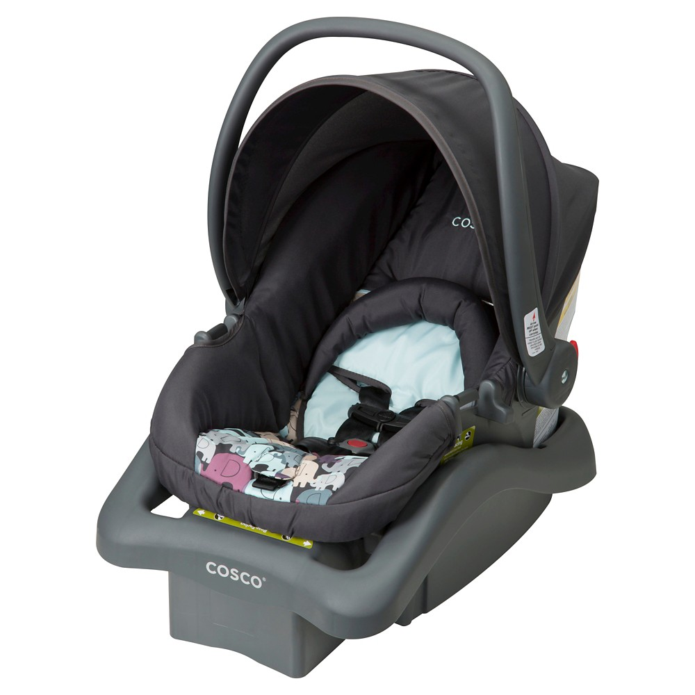 Cosco Light N Comfy DX Infant Car Seat in Elephant Puzzle