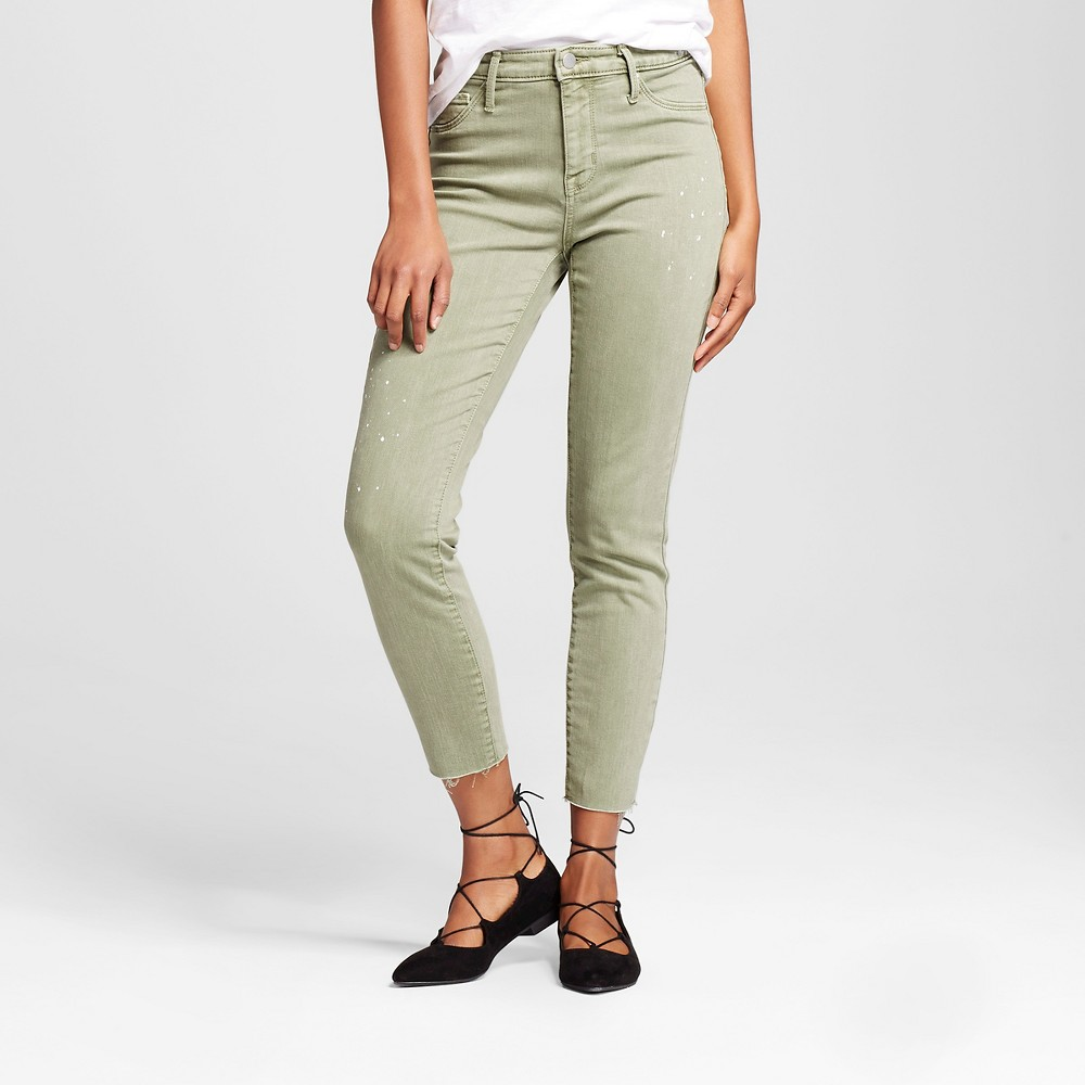 Womens High Rise Jegging - Mossimo Green 0R, Size: 0