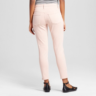 Women's High Rise Jegging Crop Pink 16R - Mossimo, Size: 16