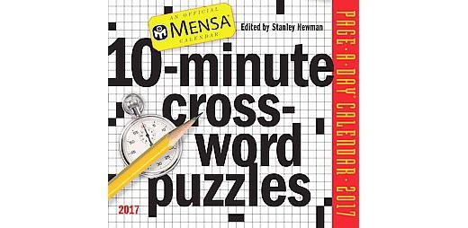 MENSA 10-MINUTE CROSSWORD PUZZLES 2018 CALENDAR - NEWMAN, STANLEY - NEW BOOK