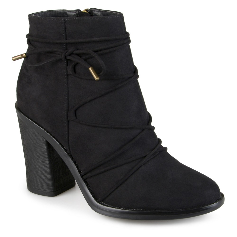 Womens Journee Collection Effie Round Toe High Heeled Booties - Black 7