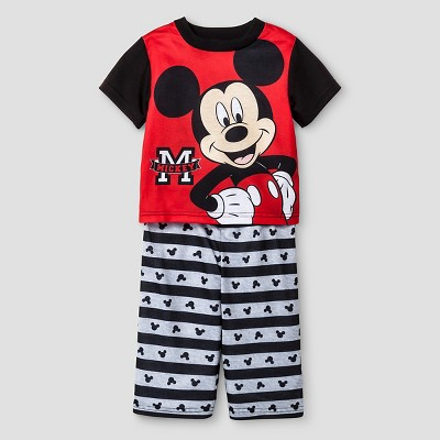 Baby Boys' Mickey Mouse 2-Piece Pajama Set - Black 12M