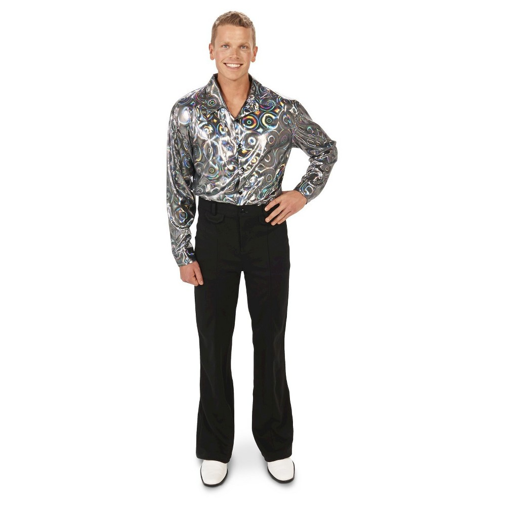 Mens Disco Shirt Costume Medium, Multicolored