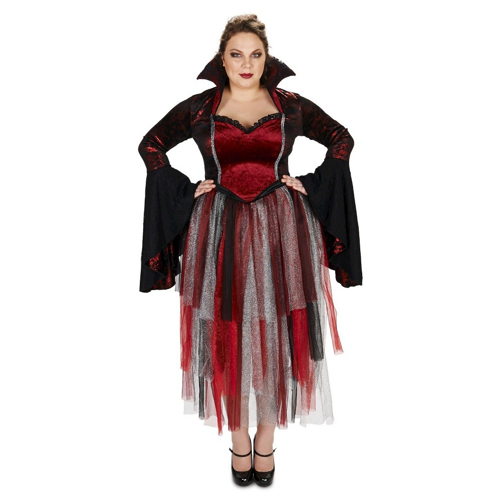 Plus Size Velveteen Queen of Hearts Women's Plus Costume 1X,  Red plus size,  plus size fashion plus size appare