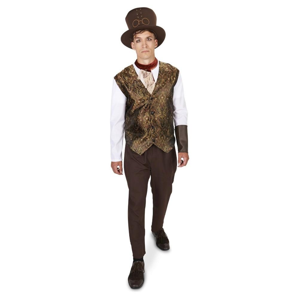 Steampunk Gentleman Mens Costume - X-Large, Size: XL, Black