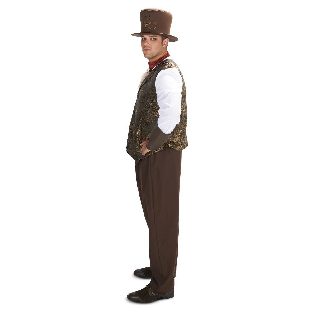 Plus Size Steampunk Gentleman Mens Plus Costume 1X, Black