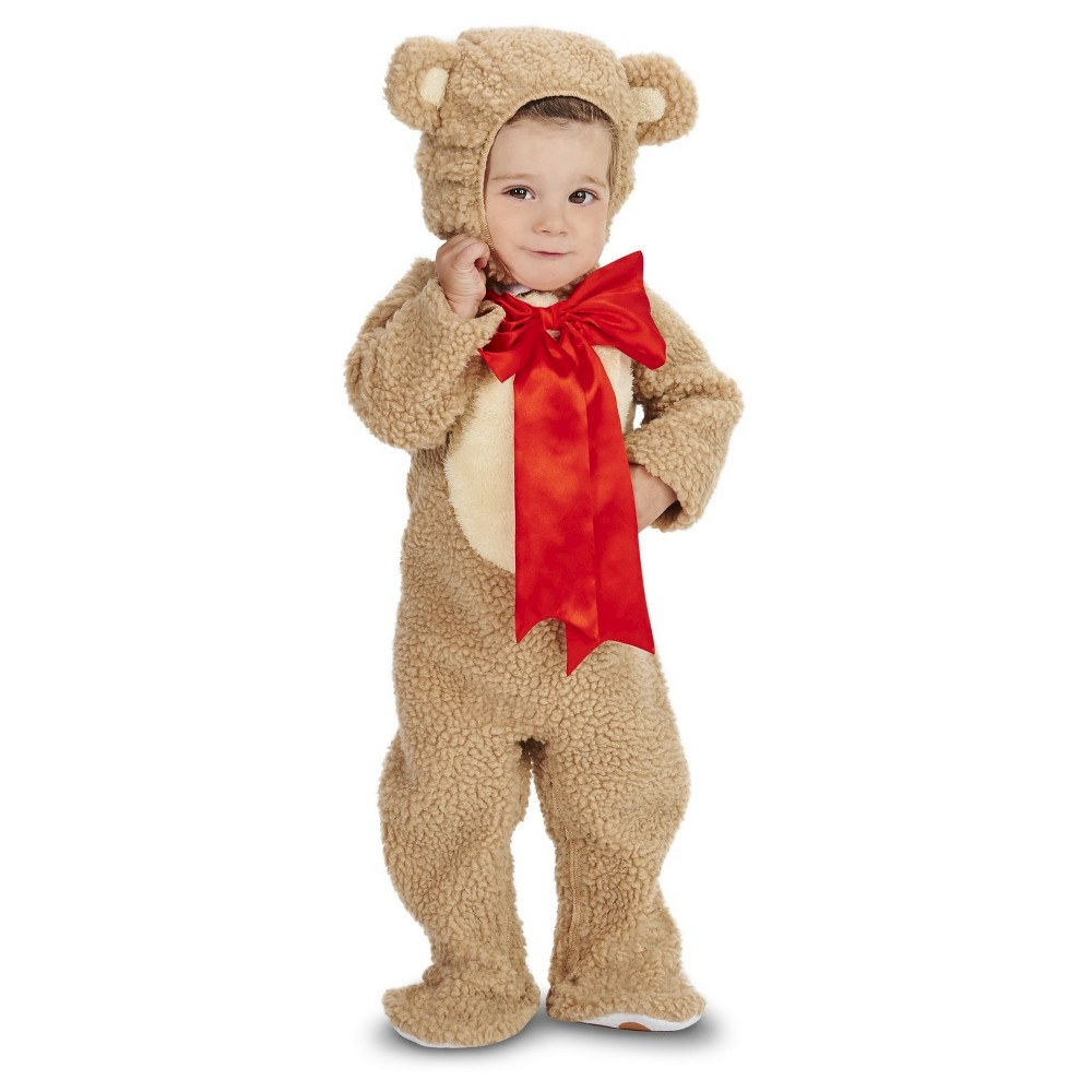Lil Teddy Bear Baby Costume 6-12 Months, Infant Unisex, Size: 6-12 M, Brown