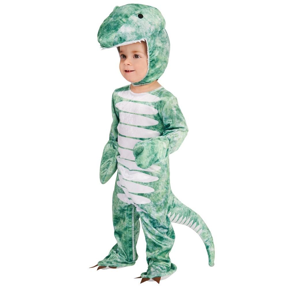 Ancient Tyrannosaurus Kids Costume S, Boys, Size: S(4-6), Green