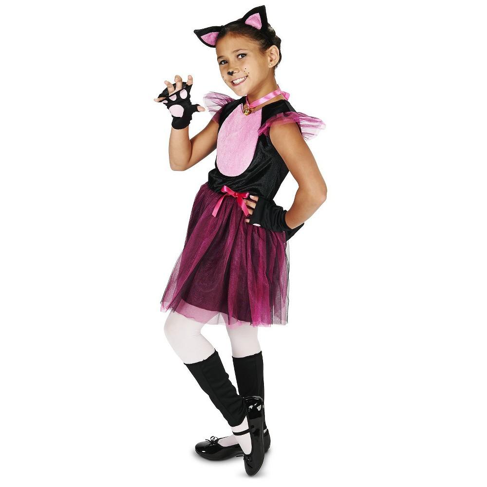 Little Cat Childs Costume Large, Girls, Black