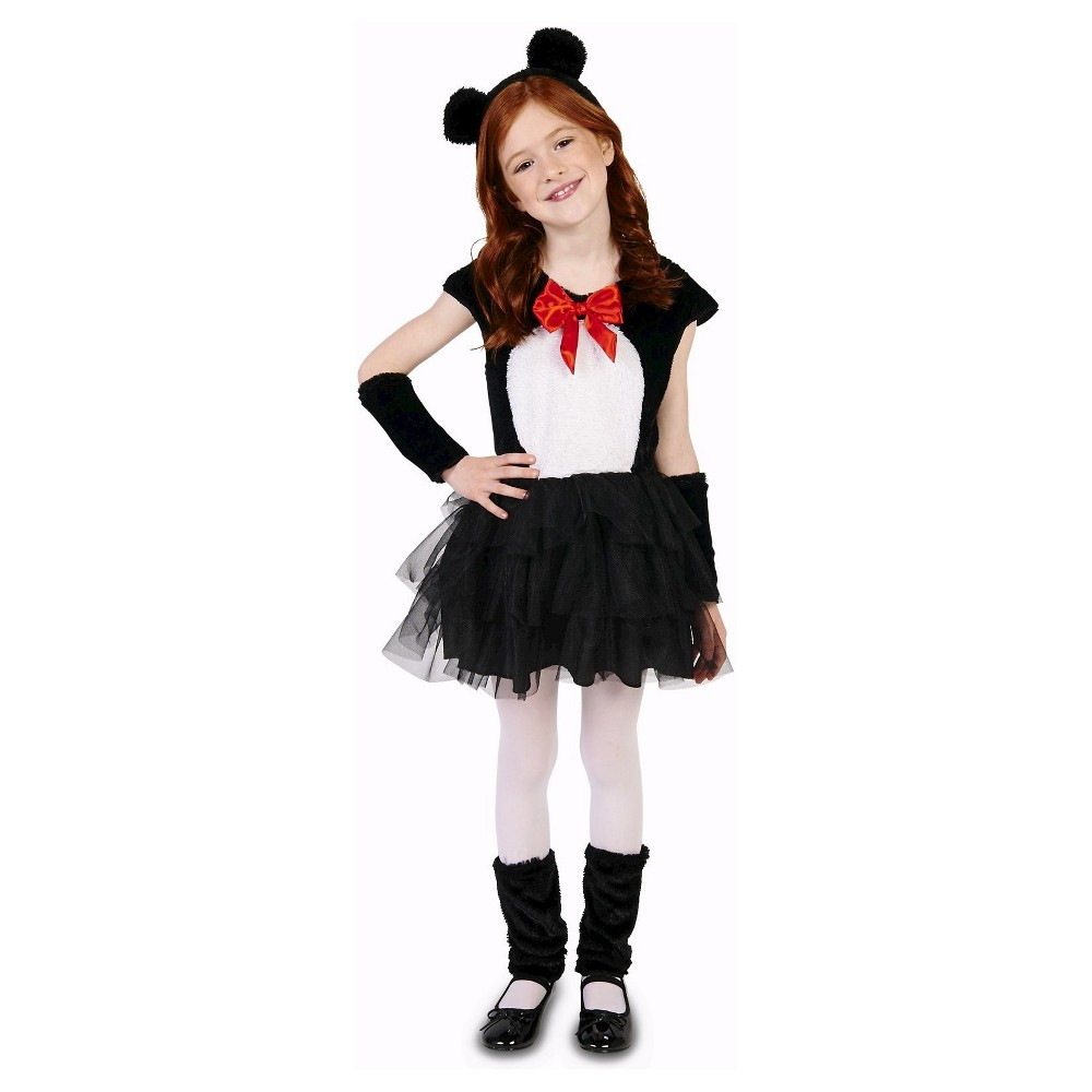 Cute Panda Childs Costume - M(7-8), Girls, Black