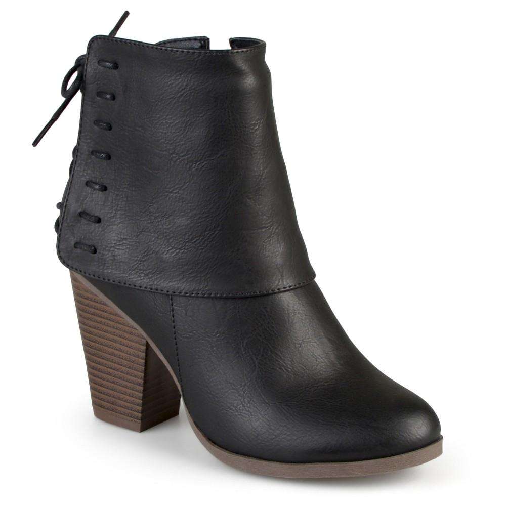 Womens Journee Collection Ayla Corset Lace High Heel Booties - Black 6.5