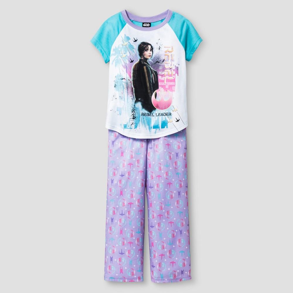 Girls Pajama Set White - Star Wars Rogue One, Size: XS, Blue White