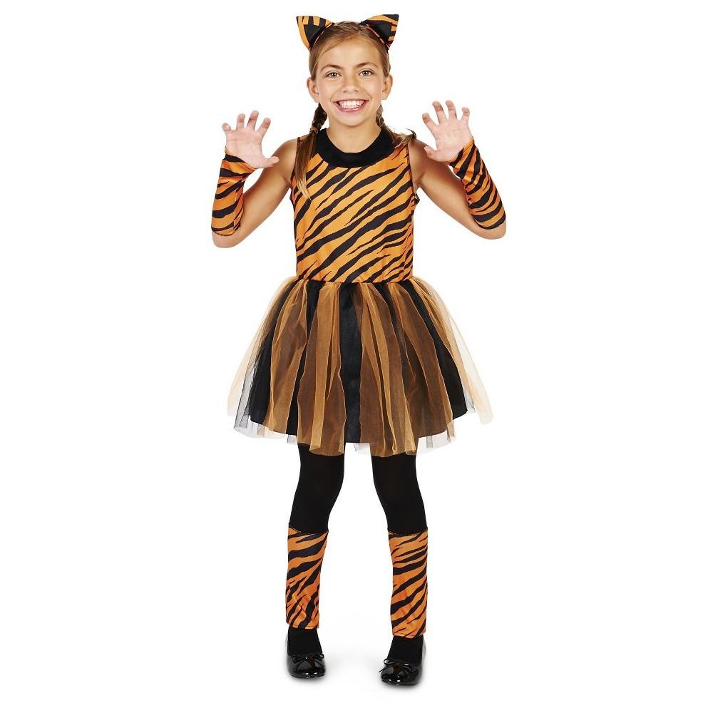 Tigress Girl Childs Costume M(7-8), Orange