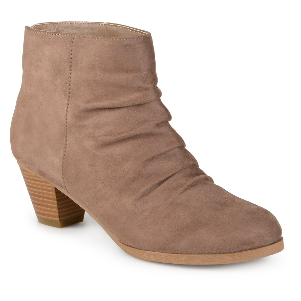 Womens Journee Collection Jemma Slouch Faux Suede Booties - Taupe 6, Taupe Brown