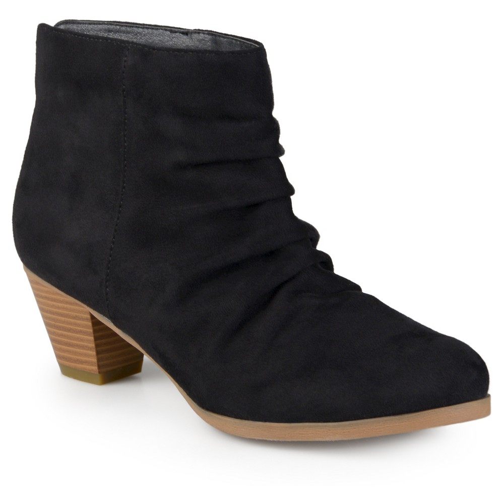 Womens Journee Collection Jemma Slouch Faux Suede Booties - Black 7.5